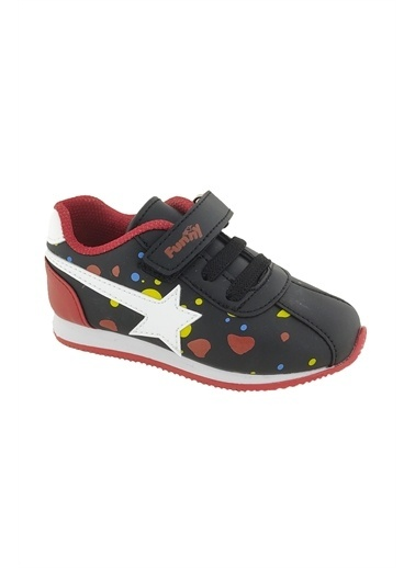Necix's Funny Bebek Cırtcıtlı Spor Ayakkabı-Siyah-Mavi Funny Bebek Cırtcıtlı Spor Ayakkabı-Siyah-Mavi Renkli